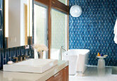 Before and After: Stunning Blue Bathroom