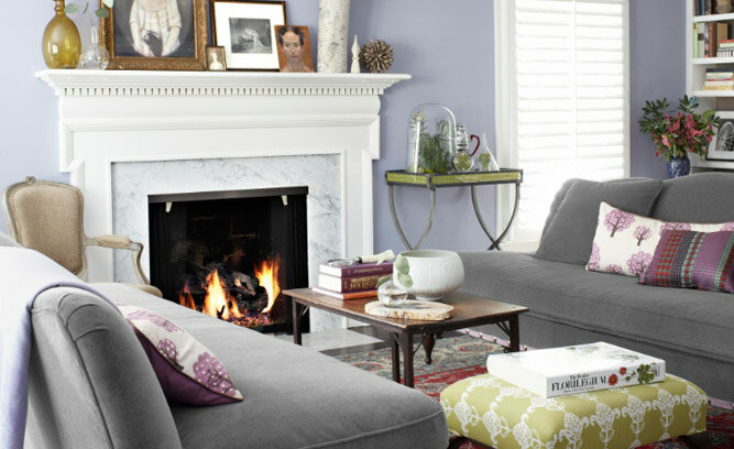 Country Living Rooms With Purple Hints