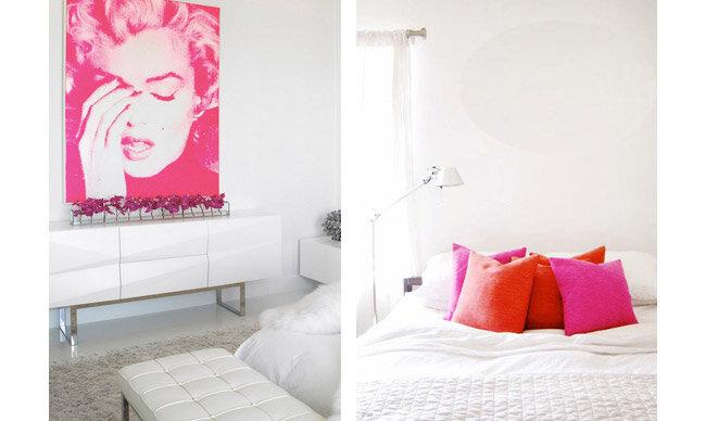 pink in bedroom decor