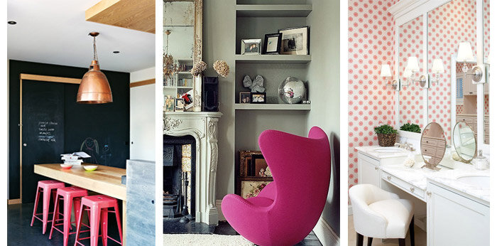 how to decorate with pink