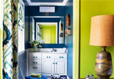 A Bold Colored Bathroom