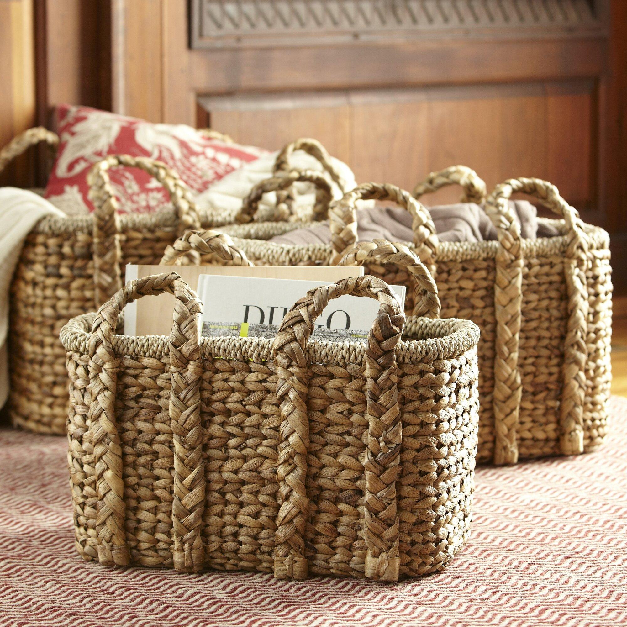 Decor Look Alikes | Birch Lane Handled Storage Basket