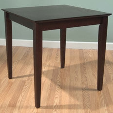 dark wood table
