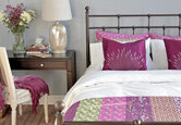 Springy Purple Bedroom Decor