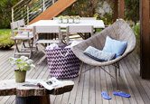Casual and Serene Waterfront Deck