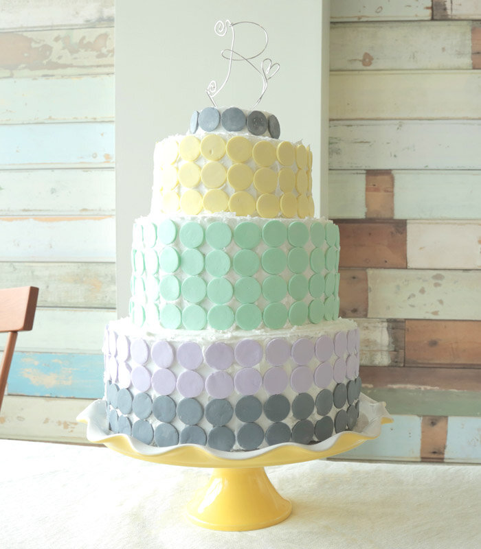 wafer wedding cake