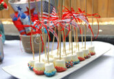 4th of July Marshmallow Pops