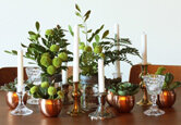 Flea Market Find Centerpieces