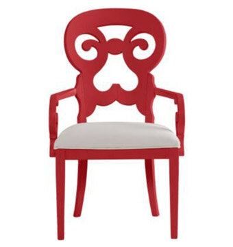red coastal chair