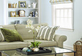 Living Room: A Tailored and Traditional Look