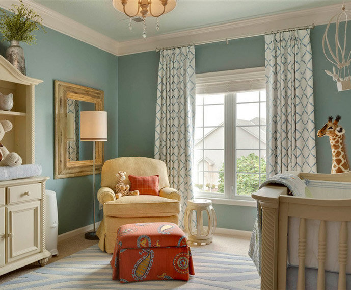 Decorating a gender neutral nursery inspired by wayfair - Chambre bebe couleur ...