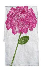 hydrangea towel