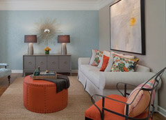 orange sitting room