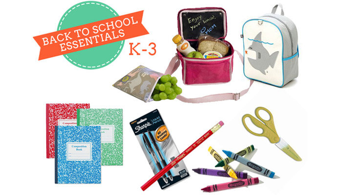 k-3 back to school essentials