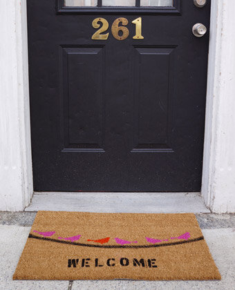 birds doormat DIY