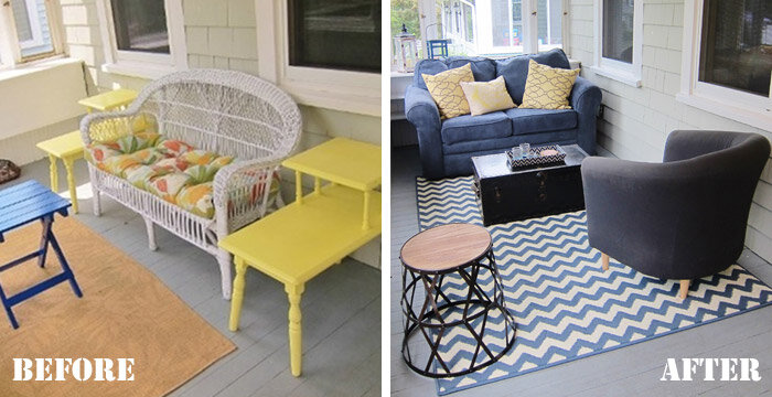makeover porch