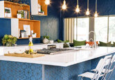 Bold and Blue Kitchen
