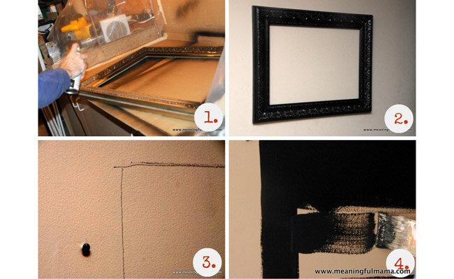 frame chalkboard diy