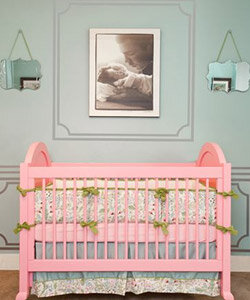 little girl crib