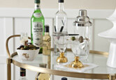 How to Outfit a Glamorous Bar Cart