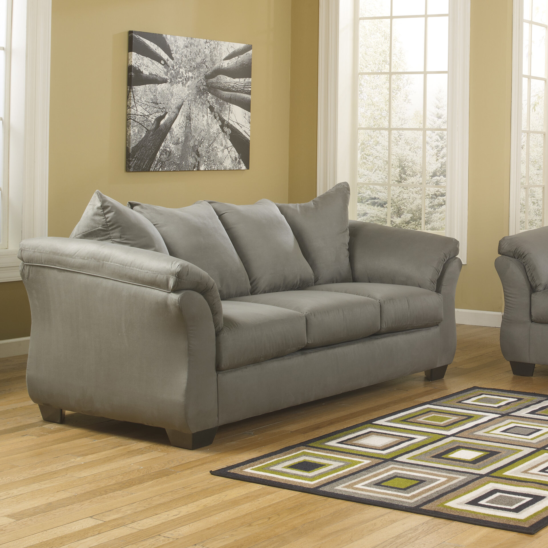 ashley harvest sofa darcy cobblestone sectional sofa by