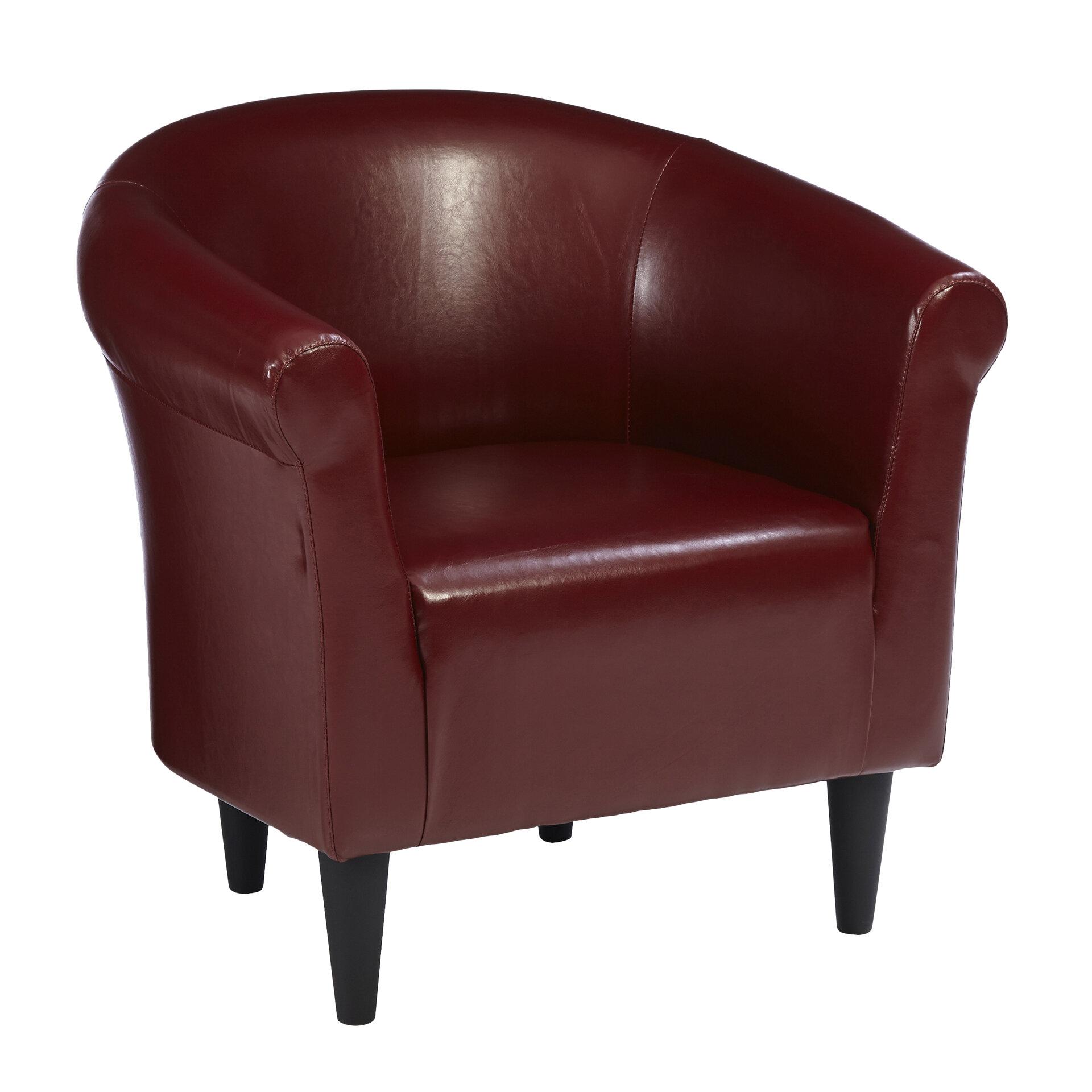 modern merlot accent club chair living room den bedroom