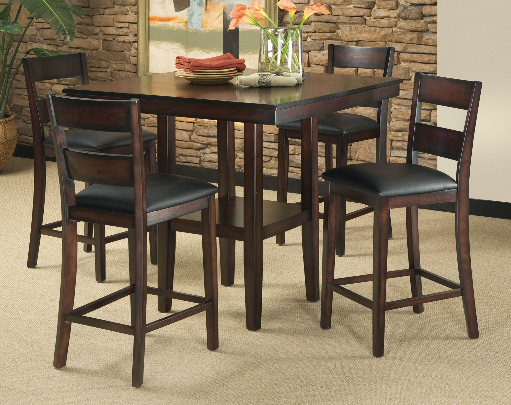 Bad Credit Standard Furniture Pendelton 5 Piece Counter Height Dining Set