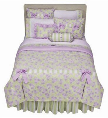 Purple Lavender And Light Green Girls Bedding Set Available In Twin Full Queen Sets Country Style Shabby Chic