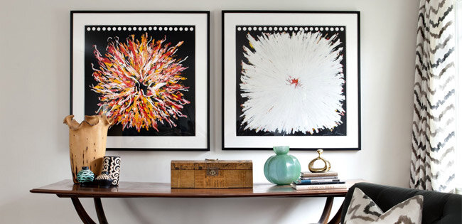 how to hang wall art