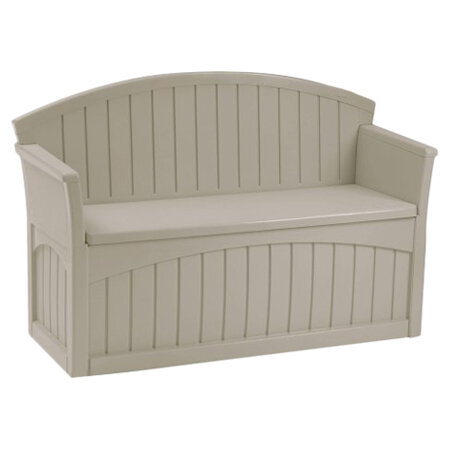 New Suncast Outdoor Patio Bench Deck Box Storage Seat Box
