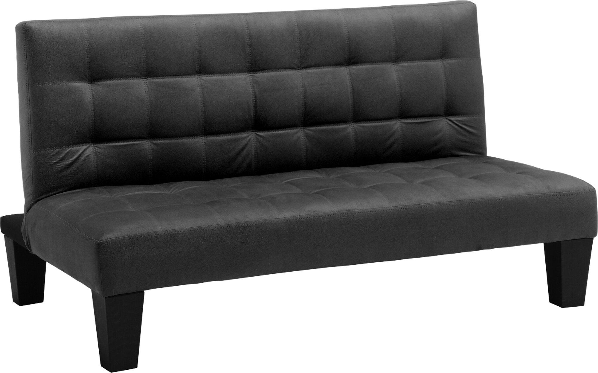 Convertible Futon Lounger Fold Down Mini Guest Bed Sofa