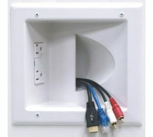 multi cable wall plate Peerless