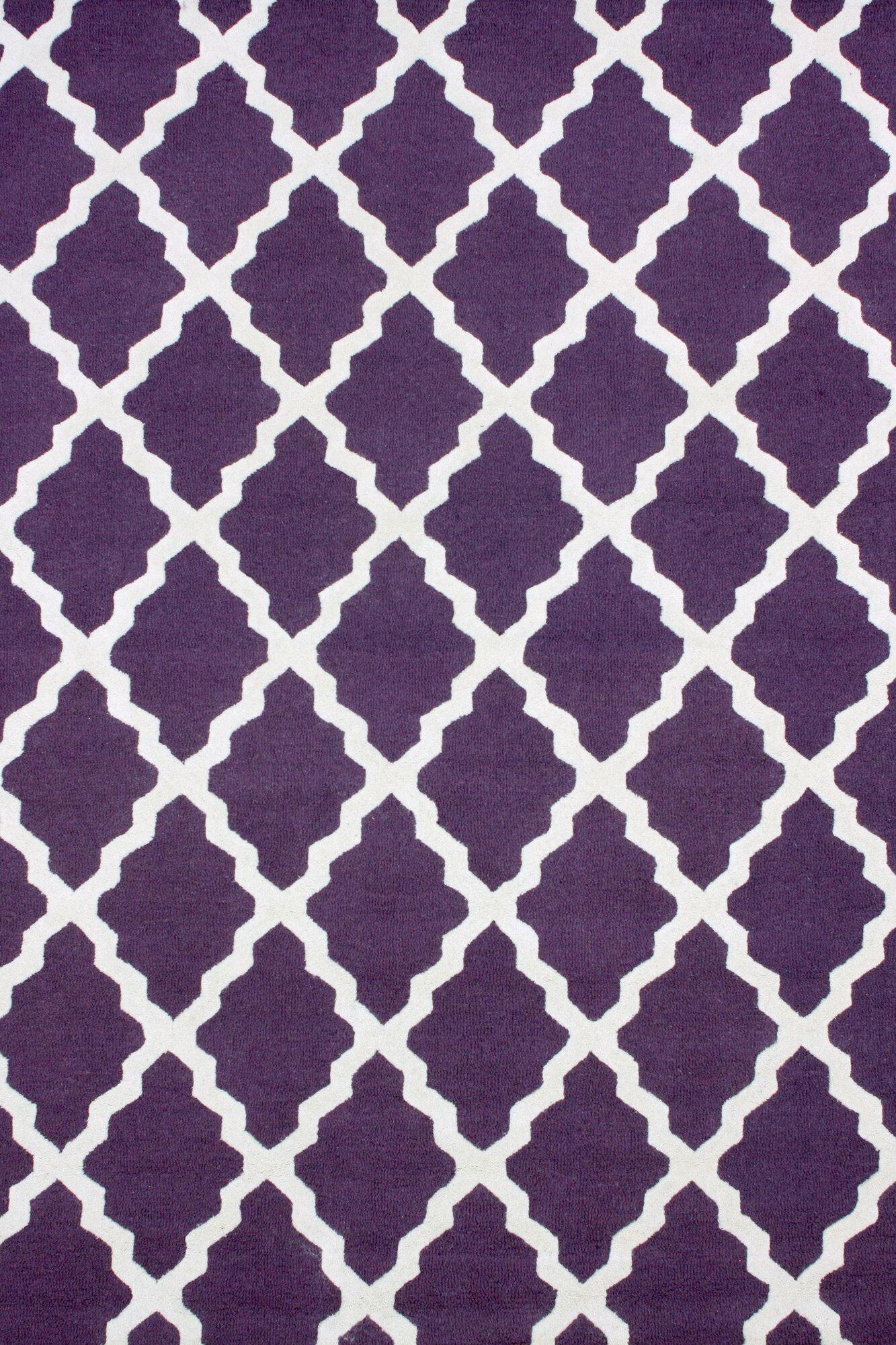 Attrayant ... Moderna Purple Marrakech Trellis Rug ...
