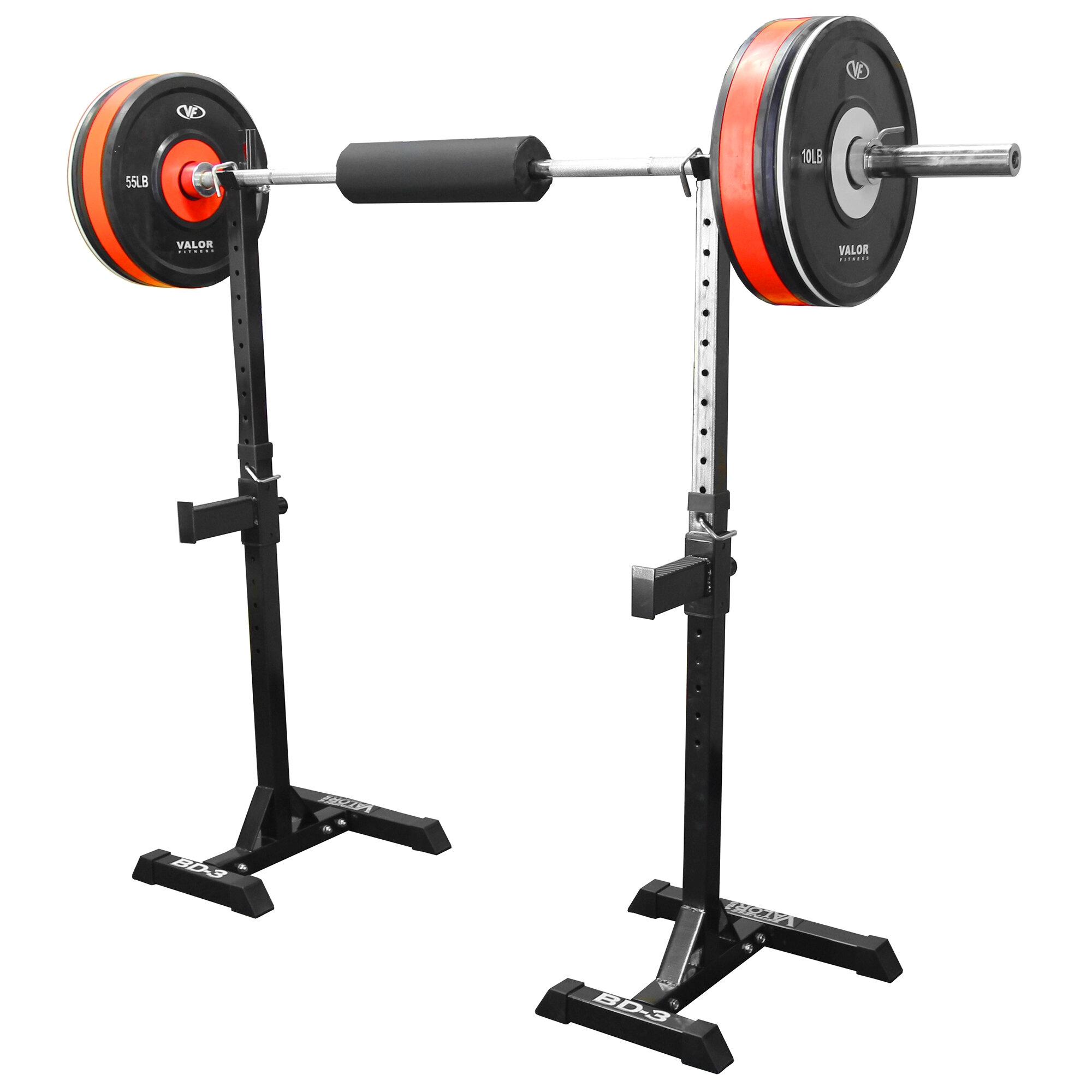 Strength Power Lifting Squat Rack Valor Fitness Bench