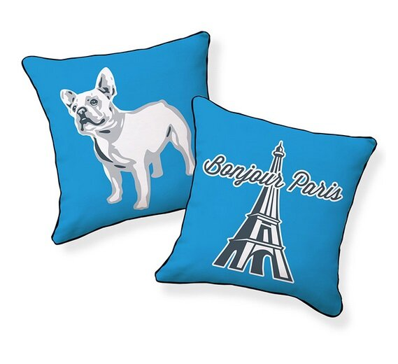 Naked decor french bulldog pillow frenchie