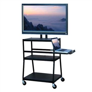 AV cart with Laptop and Monitor