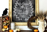 Decorate with Seasonal Chalkboard Art