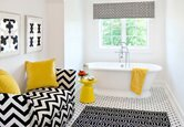 A Bold Patterned Bathroom