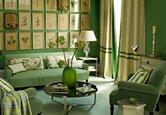 A Leaf-Green Living Room
