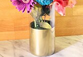 DIY Gold Color Block Vase