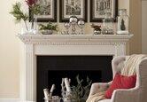 Decorate a Winter Wonderland Mantel