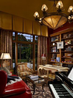Rustic Home Office photo by Joseph A Berkowitz Interiors