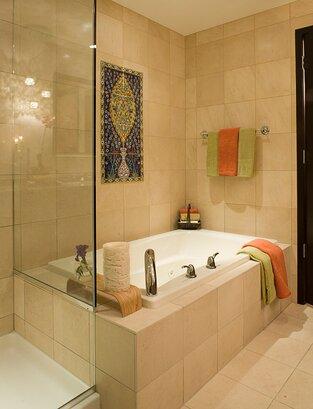 Eclectic Bathroom photo by Deb Reinhart Interior Design Group, Inc.