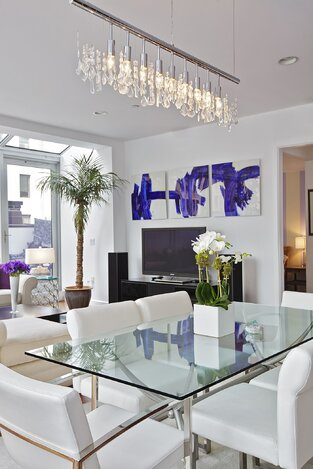 Modern Dining Room photo by Marie Burgos Design