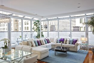 Modern Living Room photo by Marie Burgos Design