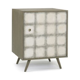 Franklin Silver Leaf Side Cabinet