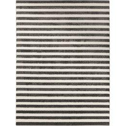 Petite Stripe Slate & Pearl Rug