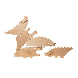 Carved Crocodile (Set of 5)