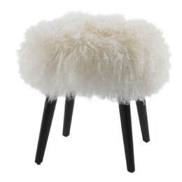 Wellington Sheepskin Ottoman