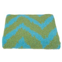 Zig Zag Azure & Lime Blanket